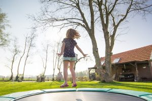 Get on that trampoline with your child!  And have fun!