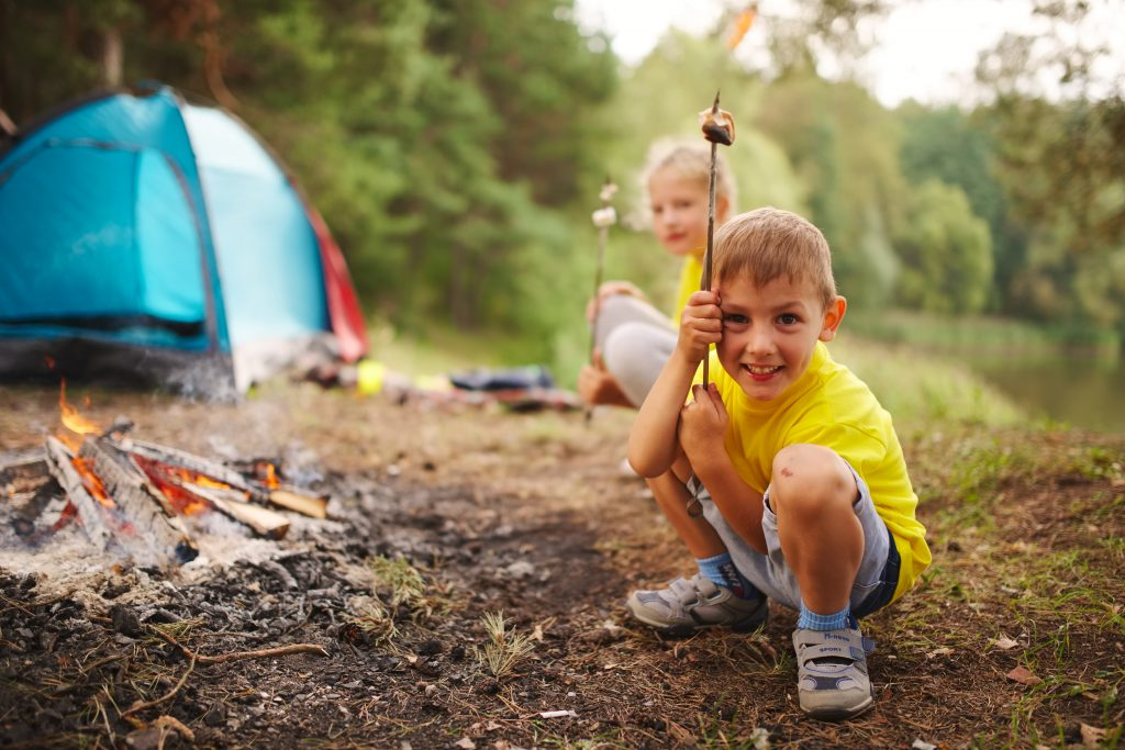 Ease your child into camping