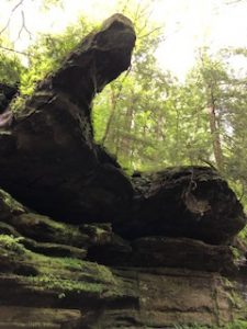 Otherwordly rock outcroppings at Hocking Hills