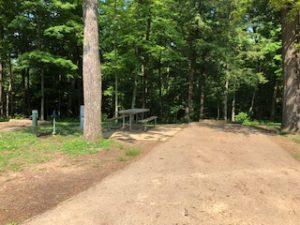 Campsite at Hocking Hills State Park campground